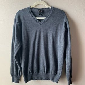JoS. A. Bank • Pima cotton gray sweater